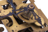 Fragment of an old clock mechanism — Stock Photo