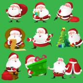 Santa Claus icons — Stock Vector