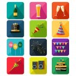 New Year party icons — Stock Vector #54163445