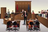 Court scene — Stock Vector