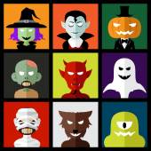 Halloween monster icons  — Stock Vector