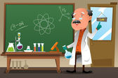Chemistry professor working at the lab — Stock Vector