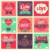 De dag van valentijnskaarten kaarten — Stockvector