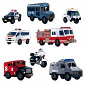 Cartoon law enforcement cars — Stock Vector