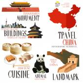 Infographic elements for traveling to China — Stock Vector