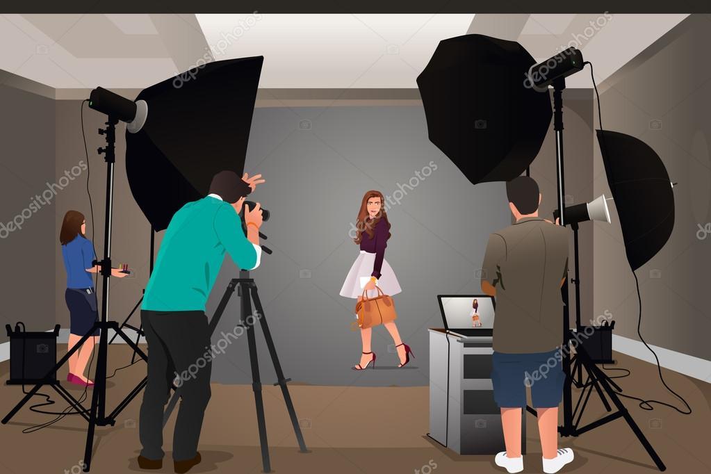 Fotografc? cekim modeli - Stok Vektor artisticco #77234242