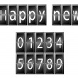 Happy New Year Set of numbers time table vector illustration — Stock Vector #57276785