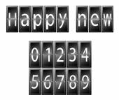 Happy New Year Set of numbers time table vector illustration — Stock Vector