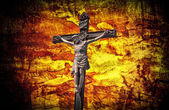 The Crucifixion Jesus on the cross grunge effect — 图库照片
