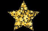 Gold star vector illustration — Stock Vector