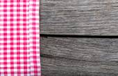 Menu background tablecloth textile on wood — Stock Photo