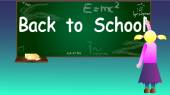 Back to school background vector illustration — Stock Vector