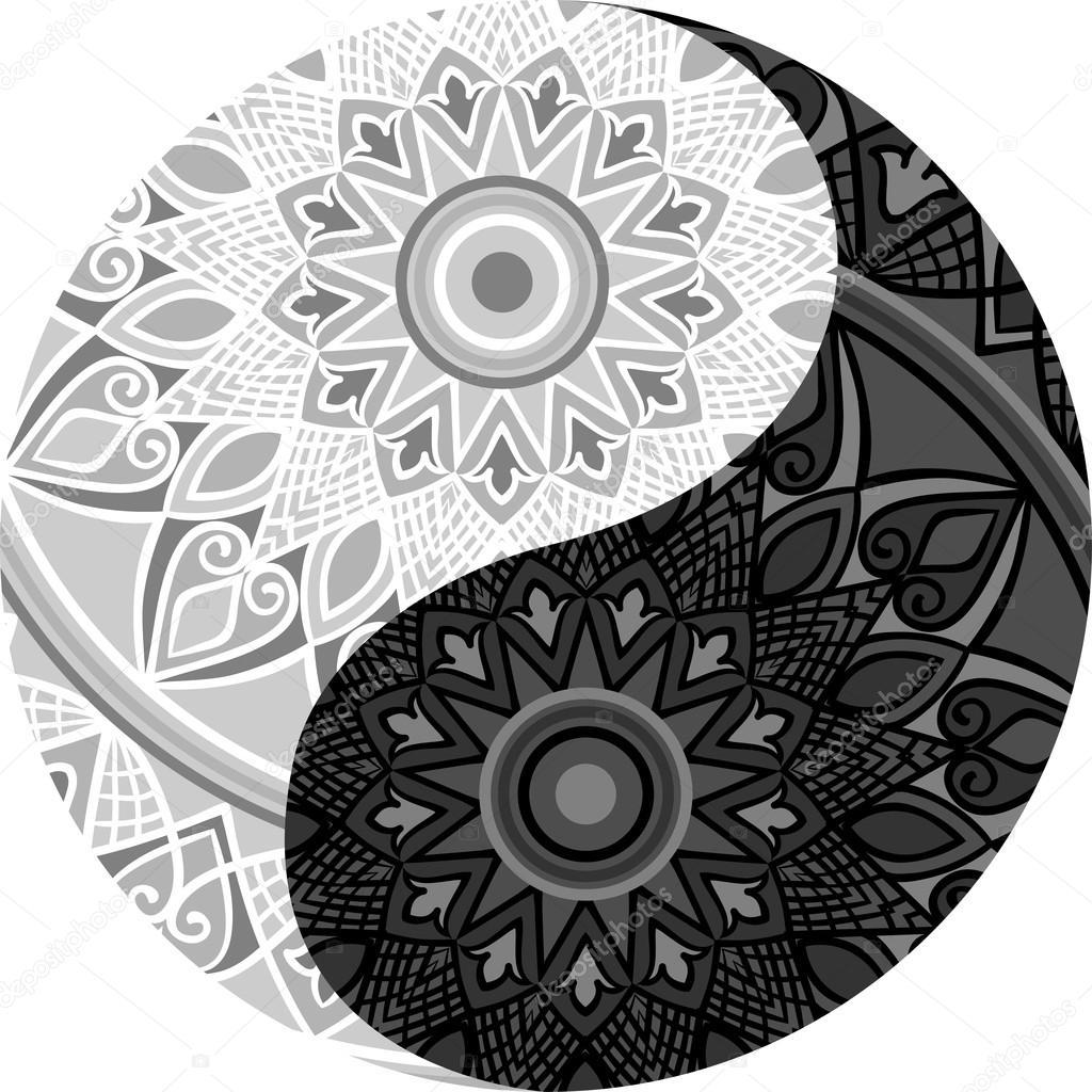mandala yin yang stock vector  u00a9 amekamura 115947274 Simple Yin Yang Which Is Yin Yang Black White