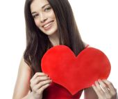 Woman beauty with heart — Stockfoto