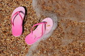 Pembe flip flop — Stok fotoğraf
