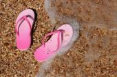 Roze flip-flops — Stockfoto