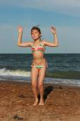 Little girl outdoor — Stock Photo