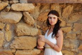 Woman in Greek style — Stock Photo