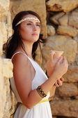 Woman in Greek style — Stock Photo