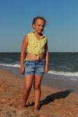 Young model posing on camera — Stockfoto