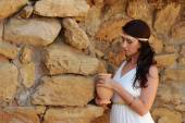 Ancient Greek goddess — Stock Photo