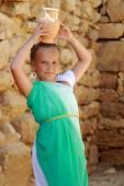 Greek little girl — Stock Photo