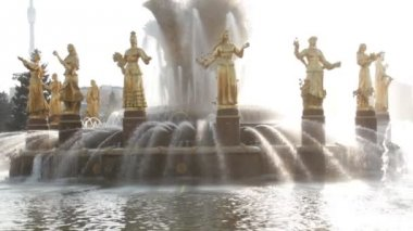 Fountain of Friendship of people, Moscow, Russian Federation — Стоковое видео