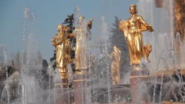 Fountain of Friendship of people, Moscow, Russian Federation — Stockvideo