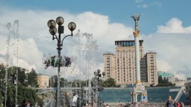 Independence square (Maydan), Kiev, Ukraine — Video Stock