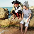Fancy Dress Pirates on Holiday — Stock Photo #59613397