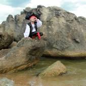 Pequeno pirata — Fotografia Stock