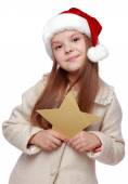 Girl on Christmas — Stock Photo