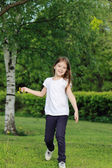 Lovely kid outdoor, Moscow, Russia — Stock fotografie