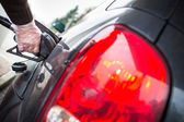 Close up car fueling — Stock Photo