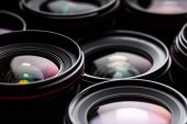 Modern camera lenses — Foto Stock