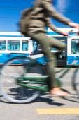 City transportation concept, bike — Stock Photo