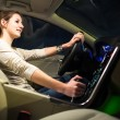 Pretty, young woman driving her car — Stock Photo #61252531