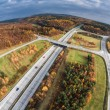 Aerial view of a road junction — Stock Photo #61252547
