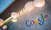 Google Corporation Reception sign — Stock Photo
