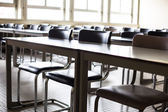 Empty classroom with chairs — Stock Photo