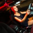 Woman driving a car at night — Stock Photo #62097387