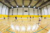 Interior of a modern multi functional gymnasium — Stock Photo