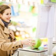 Woman shopping for fruits and vegetables — Stock Photo #71058033