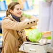 Woman shopping for fruits and vegetables — Stock Photo #71058037