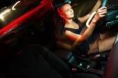 Woman driving her modern car — Stock Photo