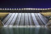 Dam at night in Hong Kong — Stock Photo