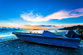 Sunset along seashore in Hong Kong — Stock Photo