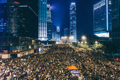 Pro-democracy protest in Hong Kong 2014 — Stockfoto