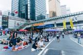 Umbrella Revolution in Hong Kong 2014 — Stock Photo