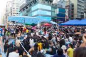 протест сторонников демократии в гонконге 2014 — Стоковое фото